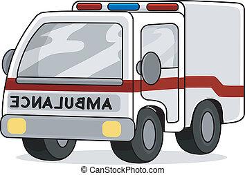 játékszer, mentőautó