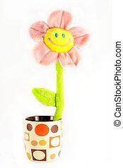 játékszer, mosolygós, virág