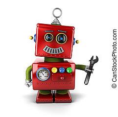 játékszer, szerelő, robot