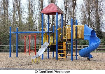 játszótér, childrens, terület