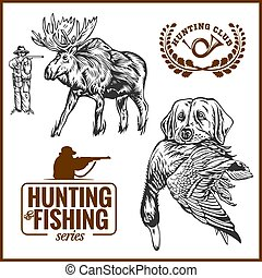 jávorszarvas, kutya, vadászat