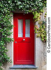 jázmin, belépés, menstruáció, ajtó, piros