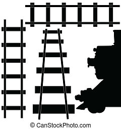 järnväg, tåg, illustration