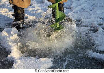 jég, fishing.