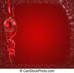 jég, piros, karácsony, háttér