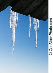 jégcsap, határ, képben látható, kék ég, háttér