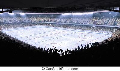jégkorong, stadium., sport, event.