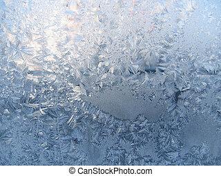 jégvirágos üveg