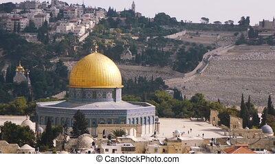 jérusalem, israël, mosquée, dôme, rocher