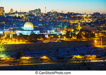 jérusalem, ville, israël, vieux, présentation
