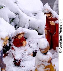 jésuite, neige, naissance