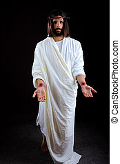 jésus, atteinte dehors, ressuscité, christ