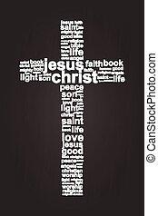 jésus, chrétien, croix, christ