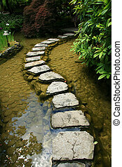 jésus-christ, canada, butchart, jardin, jardins, -, japonaise, victoria