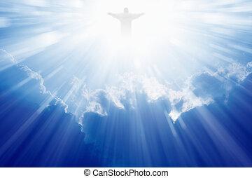 jésus christ, dans, ciel