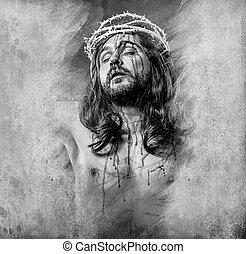 jésus christ, halo, artistique