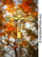 jésus christ, sur, croix