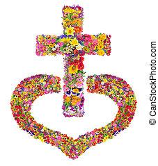 jésus, coeur, mon, croix, christ's