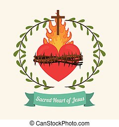 jésus, coeur, sacré, conception