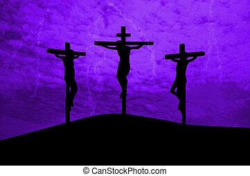 jésus, crucifié, christ