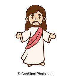 jésus, dessin, dessin animé