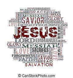 jésus, religieux, fond