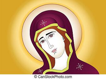 jézus, anya, mária