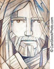 jézus, arc, krisztus