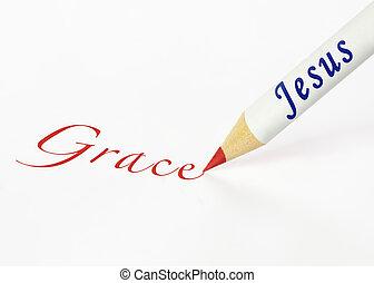 jézus, helyesen ír, báj