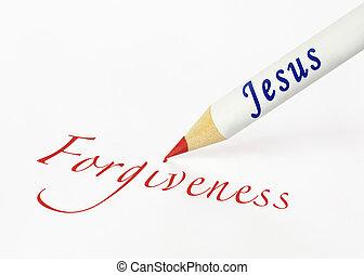 jézus, helyesen ír, bocsánat