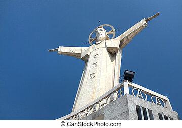 jézus, -, vietnam, szobor, vangtau