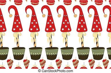 jó, ünnepies, pattern., seamless, karácsony, év, spirit., új, atmosphere.