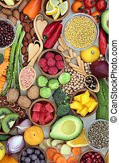 jó being, élelmiszer, egészséges