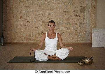 jóga, excercise, domovní