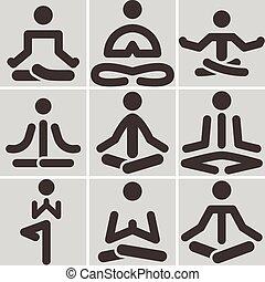 jóga, ikonok