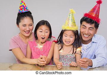 jókedvű, család 4, játék, noha, repedések