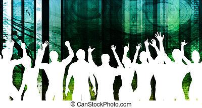 jóvenes, bailando
