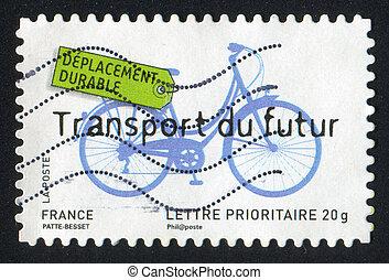 jövő, bicikli, szállít