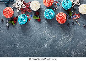 július, cupcakes, negyedik