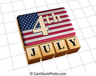 július, előre