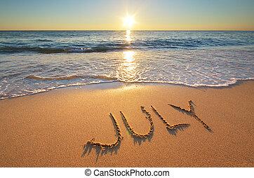 július, szó, tenger