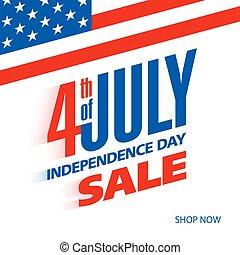 július, szabadság, negyedik, usa, nap
