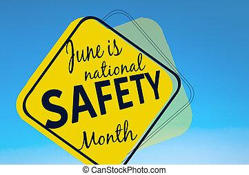 június, van, nemzeti, biztonság, hónap