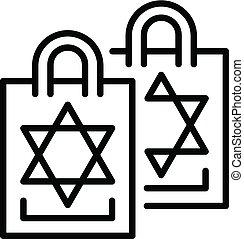jüdisch, ikone, stil, grobdarstellung, satz