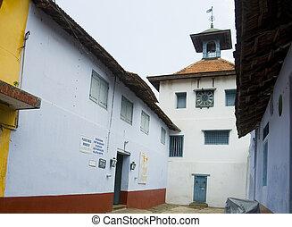 jüdisch, kerala, (cochin), kochi, synagoge, indien