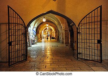 jüdisch, quartal, israel, jerusalem