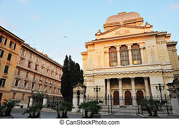 jüdisch, rom, synagoge, italien