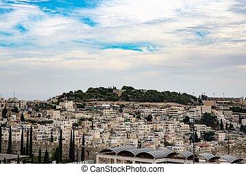 jüdisch, settlements., jerusalem, höhen