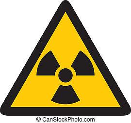jądrowy, żółty znak