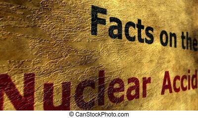 jądrowy, pojęcie, grunge, wypadek